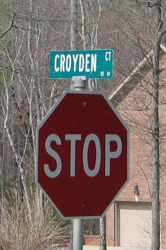 Croyden Court Street Sign
