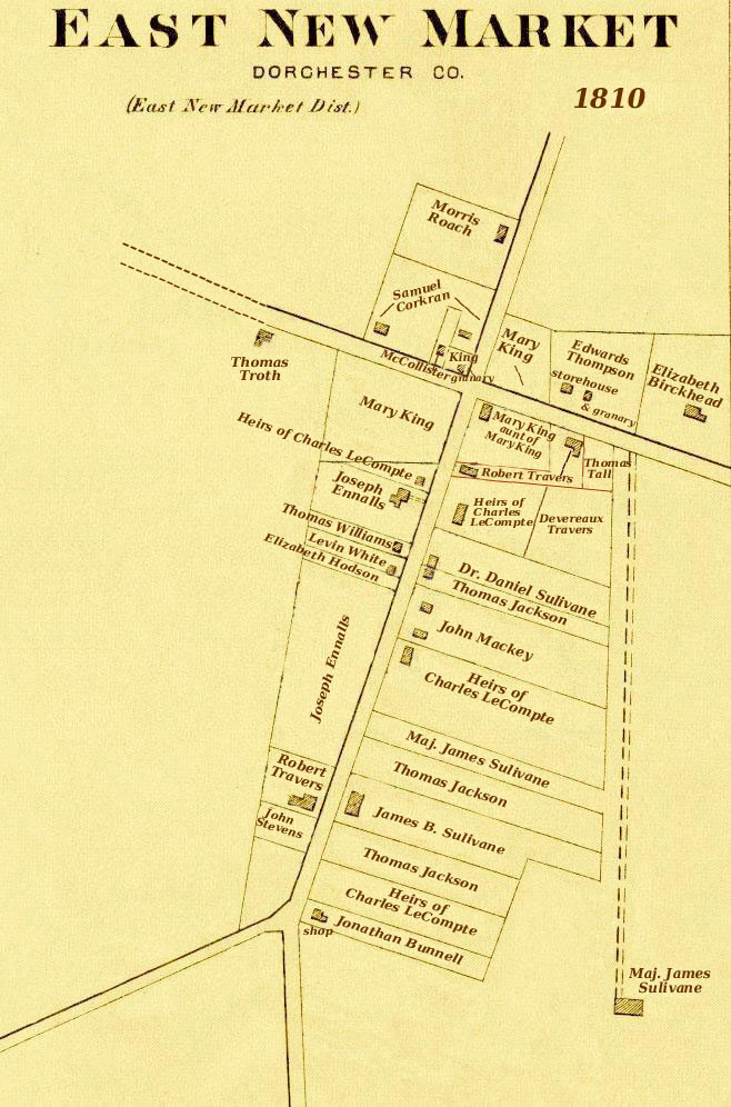 1810 Conceptual Map of East New Market
