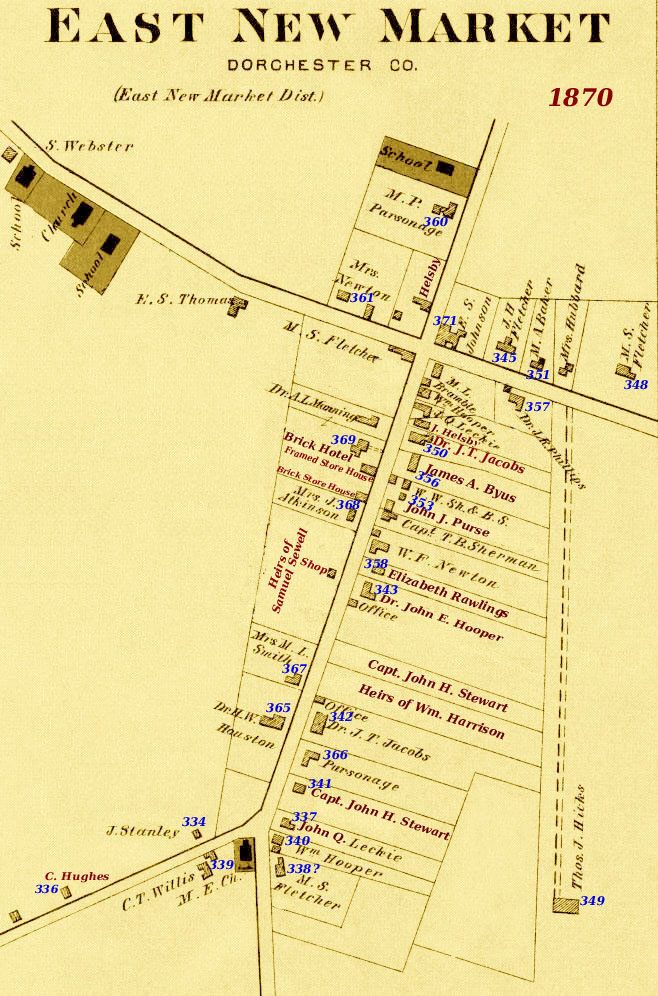 1870 Census East New Market